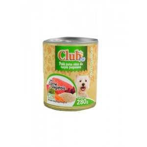 Patê Premium Filhote Sabor Carne com Vegetais - Club Pet - 280 g - c/ 12 un