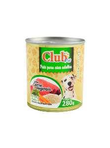 Patê Premium Adulto Sabor Carne com Vegetais - Club Pet - 280 g - c/ 12 un