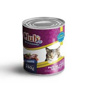 Patê Premium para Gatos Sabor Carne - Club Pet - 240 g - c/ 12 un