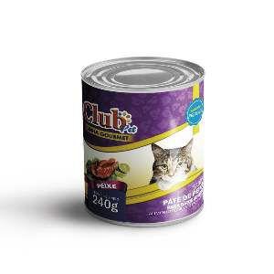 Patê Premium para Gatos Sabor Peixe - Club Pet - 240 g - c/ 12 un