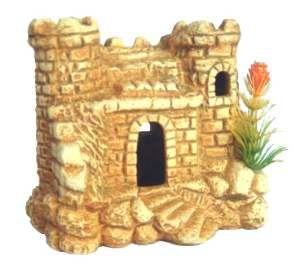 Enfeite castelo envelhecido - Trema - 13x8x12cm