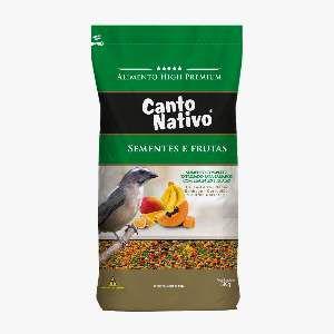 Racao canto nativo sementes e frutas 5kg - Minas Nutri