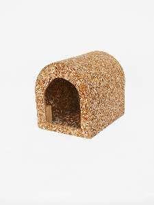 Casa ecologica para coelho e chinchila - Club Pet Recriar - 16x19x21cm