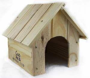 Casa de madeira para coelhos - Club Pet Galli - 35x30x8cm