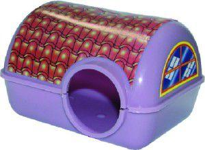 Casa plastica adesivada para hamster - Alvorada - 13,5x10,5x8,5cm