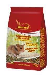 Racao completa para roedores 500g - Minas Nutri - com 10 unidades