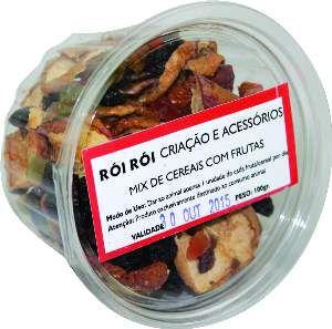 Mix de Cereais com Frutas para Roedores - Rói Rói - 100 g - 12x12x7cm