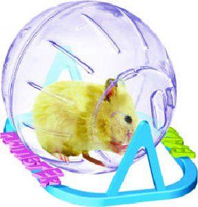 Globo plastico com suporte para hamster medio - Plast Pet - 17cm