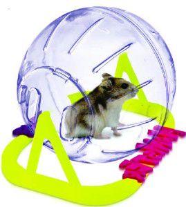 Globo plastico com suporte para hamster pequeno - Plast Pet - 13cm