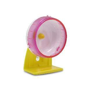 Roda de exercicio plastico para hamster P - Savana - 14x12x7,5cm