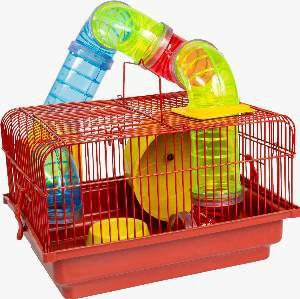 Gaiola para Hamster Labirinto - Jel Plast - (19 cm x 30 cm x 30 cm)