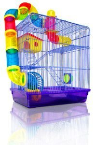 Gaiola aco 3 andares e labirinto para roedores - American Pet's - 26x38x42,5cm