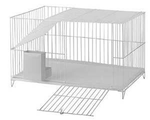 Gaiola arame para coelho top - Monaco - 62x41x37cm