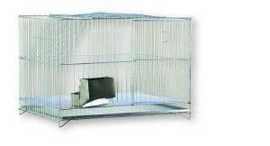 Gaiola arame e chapa de aco para Coelho Individual - Londrigaiolas - 60x40x40cm