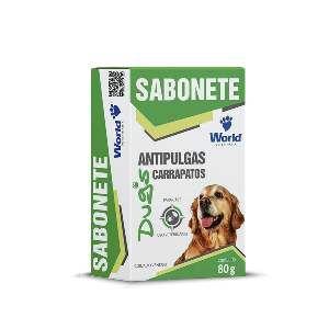 Sabonete Antipulgas e Anticarrapatos Dugs - World Veterinária - 80 g