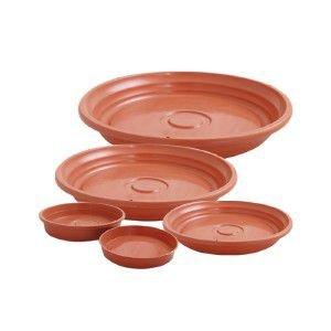 Prato plástico para vaso ceramica N2 - Jorani - 18,5x2,5cm