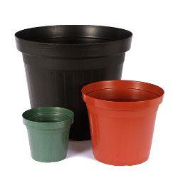 Vaso plastico preto PL-27 - Big Plast - 27x23,5cm