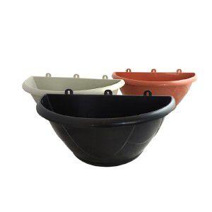 Vaso plastico de parede N1 preto 1,7L - Jorani - 24,5x14cm