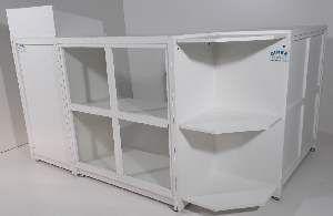 Balcao madeira caixa em L - Ciner - 120x50x110cm