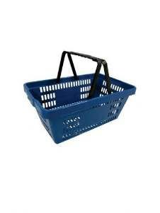 Cesta plastica 13L azul - Gondolas Amapá - 45x29x93cm