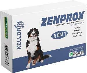 Vermifugo Zenprox para caes grandes 2700mg - Kelldrin - 2 unidades