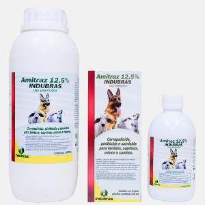Antiparasitario amitraz 12,5% 20ml - Indubras - 2,3 x 2,3 x 7,5 cm
