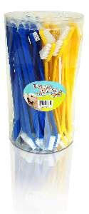 Escova dental plastica dupla - American Pet's - com 50 unidades - 12cm