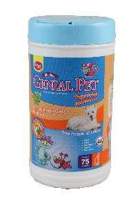 Lenço Umedecido Genial Pet Macho - Genial - com 75 unidades
