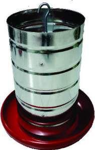 Comedouro aluminio tubular 5kg - Avipet - com 5 unidades - 26x26cm