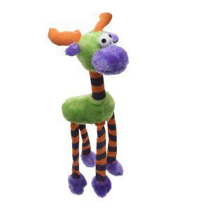 Brinquedo pelucia alce sonoro roxo - Savana - 50x15x8cm