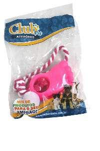 Brinquedo vinil pezinho duplo com corda - Club Pet Nicotoys - 27x7cm