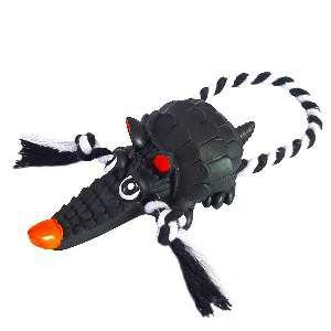 Brinquedo vinil tatu com corda - Club Pet Nicotoys - 27x9cm