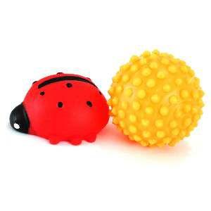 Brinquedo vinil bola cravo com joaninha - Club Pet Nicotoys - 12x12cm