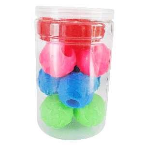 Brinquedo vinil bola snack - Club Pet Nicotoys - com 12 unidades - 23x14,5cm