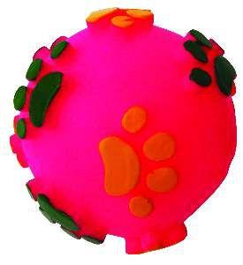 Brinquedo vinil bola pata relevo - Club Pet Nicotoys - 8cm