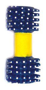 Brinquedo vinil halteres pequeno - Chalesco - 14x5cm