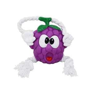 Brinquedo vinil uva com corda - Club Pet Nicotoys - 30x14cm
