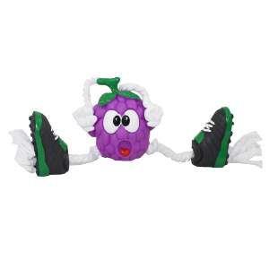 Brinquedo vinil uva com chuteira - Club Pet Nicotoys - 35x14cm