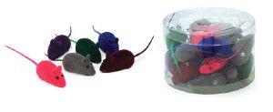 Brinquedo vinil ratinhos coloridos - Chalesco - 24 unidades - 5cm