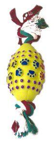 Brinquedo vinil bola futebol americano com corda - Chalesco - 23x8cm