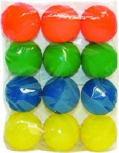 Brinquedo vinil bola lisa taco - Luna & Arreche - com 12 unidades - 6cm