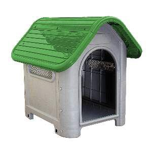Casa plastica dog home N3 verde - MEC PET - 73x55x65cm