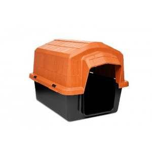 Casa plastica super resistente laranja N3 - Club Pet Alvorada - 67x46x41cm