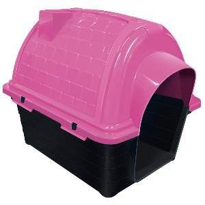 Casa plastica iglu N2 - Rosa - Furacao Pet - 54x42x47cm