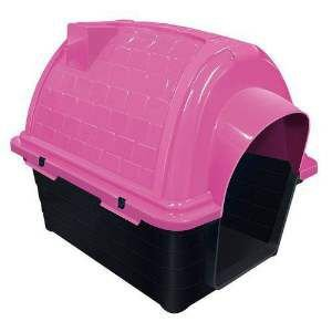 Casa plastica iglu N4 rosa - Furacao Pet - 67x50x58cm
