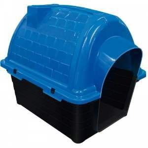 Casa plastica iglu N5 - Azul - Furacao Pet - 100x75x82cm