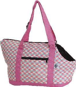 Bolsa de transporte poliester lateral rosa - Sak's - 41x27x22cm