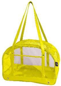Bolsa de transporte PVC cristal amarelo - Sak's - 45x30x25cm