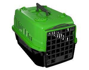 Caixa de transporte podyum N1 verde - MEC PET - 42x32x28cm