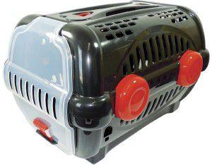 Caixa de transporte luxo N3 - Black com vermelho - Furacao Pet - 60x40x36,5cm - até 12kg